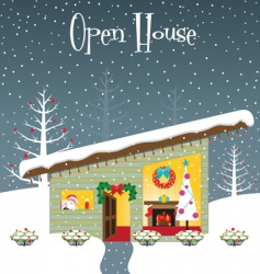 Christmas open house vector image