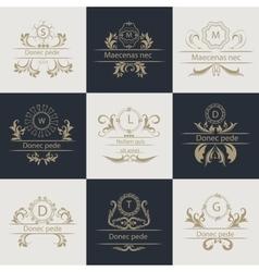Design cards ornamental decorative logos vector image vector image