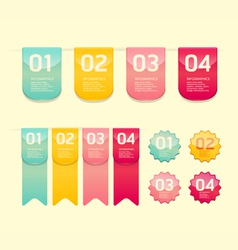 Modern soft color Design button vector image vector image