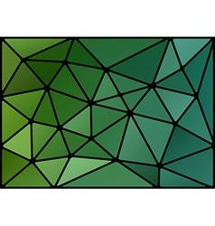 triagles green black vector image vector image