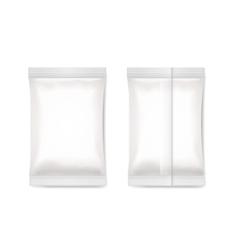 White blank foil packaging sachet vector image