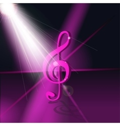 Abstract Music Background for vector image vector image
