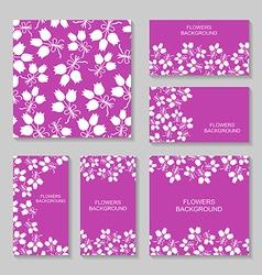 bouquets backg set3 vector image vector image