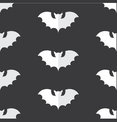 halloween seamless pattern with black bat vector image