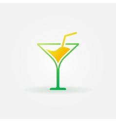 Martini bright icon or logo vector image