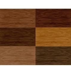 Set wood seamless patterns vector image