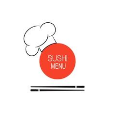 Sushi menu idea vector image