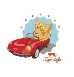 Tiger style tshirt design vector
