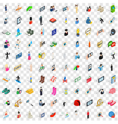 100 body icons set isometric 3d style vector