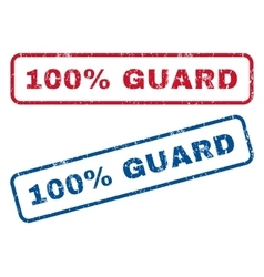 100 Percent Guard Rubber Stamps vector