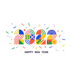 2022 new year bannernumbers from geometric shapes vector