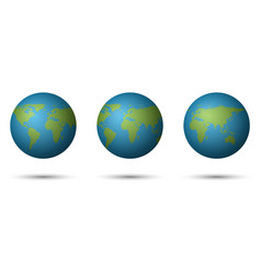 3d planet earth on white background vector image