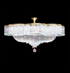 a beautiful crystal chandelier on a dark vector image