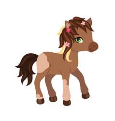 Adorable cartoon horse character vector