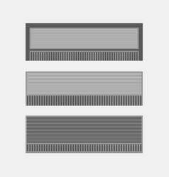 Air-conditioner icon set vector