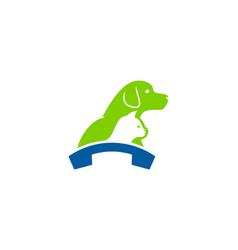 animal call logo icon design vector image