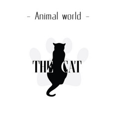 animal world the cat black cat foot cat background vector image
