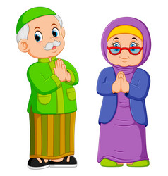 are greeting forgiveness ied mubarak vector image