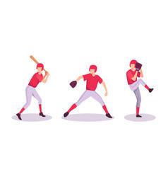 baseball sport athlete concept vector image