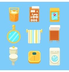 Bathroom Objects Set vector