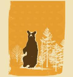 bear screen print style illustration vector image vector image