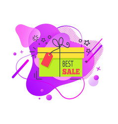 best sale present shaped stars tag vector image