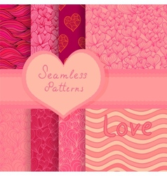 Big seamless patterns set vector