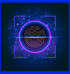 Biometric fingerprint scan for access to vector