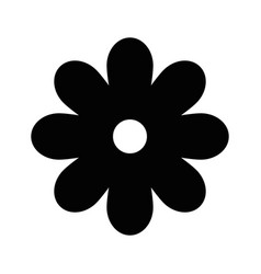 Black flower symbol vector