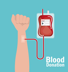 blood donation medical icon vector image