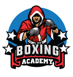 boxing badge design vector image