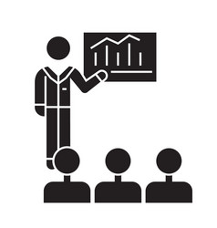 business conference mentor teaching black vector image