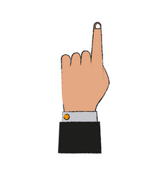 business hand symbol vector image