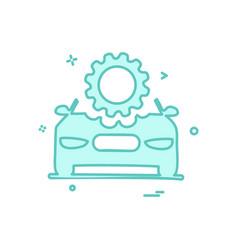 car repairing setting gear icon design vector image