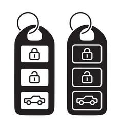 Car smart key or automobile keyless smart key vector