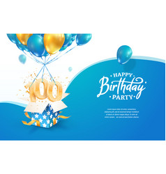 celebrating 100th years birthday vector image