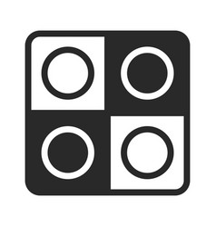 checkers icon checkerboard game element vector image