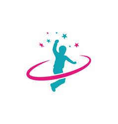 Children dream success icon design template vector