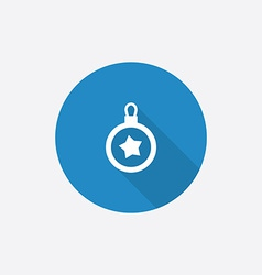 christmas decoration Flat Blue Simple Icon with vector image