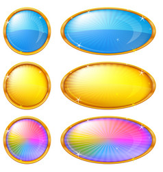 colorful buttons set vector image vector image