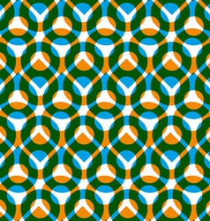 Colorful seamless pattern with green and orange vector image vector image