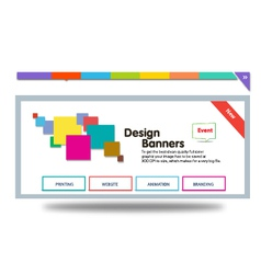 Colour banner vector