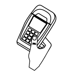 Dataphone transaction payment vector image