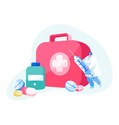 doctor or nurse character in white robe stand vector image