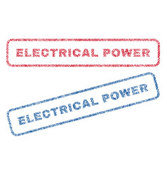 electrical power textile stamps vector image