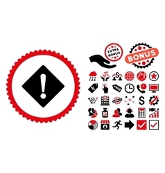 Error Flat Icon with Bonus vector image