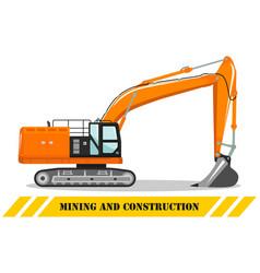 excavator detailed heavy mining vector image