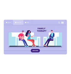 family therapy web page wife and husband vector image
