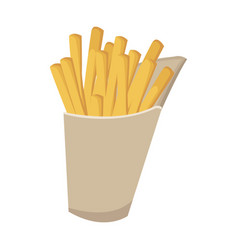 fast food french fries tasty paper box vector image