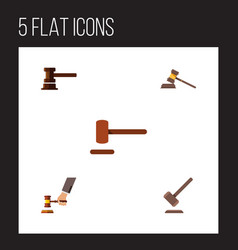 flat icon lawyer set of tribunal defense vector image